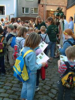Grundschule Leutenberg und Naturparkverwaltung gestalten einen gemeinsamen Wandertag Naturparkverwaltung